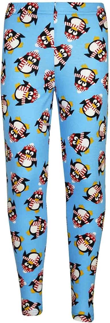 A2Z 4 Kids/® Kids Girls Christmas Dress Santa Snowman Penguin Print Xmas Fashion Dresses with A Free Xmas Badge New Age 1-13 Years.