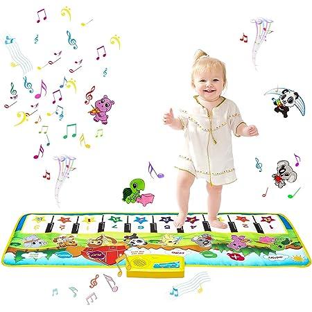 m zimoon Tapis Piano, Tapis de Musique Tapis de Danse Tapis Multi Musicale Tapis de Sol Jouets Educatifs Cadeau de Noël Anniversaire pour Enfants Garçons Filles (100 * 36 cm)