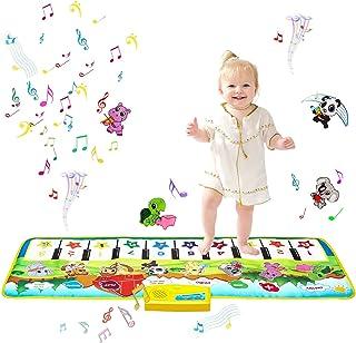 m zimoon barn pianomatta, musik matta dansmattor touch spel mattor golvtangentbord musikmatta för barn baby småbarn