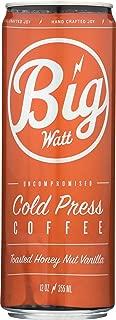 Big Watt Coffee Uncompromised Cold Press Coffee, The Bear & The Barrel Toasted Honey Nut Vanilla, 12 Fl Oz