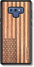 Wooden Phone Case (American Flag in Mahogany) Compatible with Galaxy Note 9, Samsung Galaxy Note 9