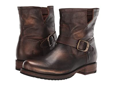 Frye Veronica Bootie (Bronze Waxed Full Grain) Women