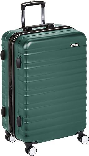 Amazon Basics Valise rigide à roulettes pivotantes de qualité supérieure avec serrure TSA intégrée - 78 cm, Vert