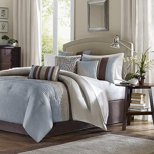 Beau Madison Park Tradewinds Comforter Set King Blue