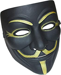 YCL Anonymous Masks V for Vendetta Mask, Guy Fawkes Halloween Costume for 2018 Halloween Costume Party Black