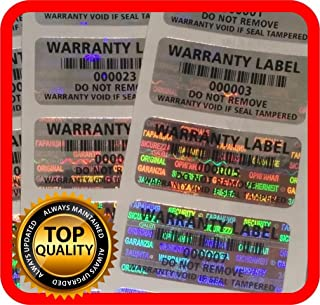 250 pcs Warranty Seals, Security Hologram Stickers, Void Tamper evident Labels 1.25 x .59 Inch