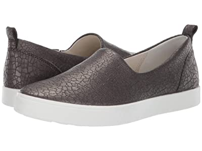 ECCO Gillian Lux Slip-On (Black/Dark Shadow Metallic) Women