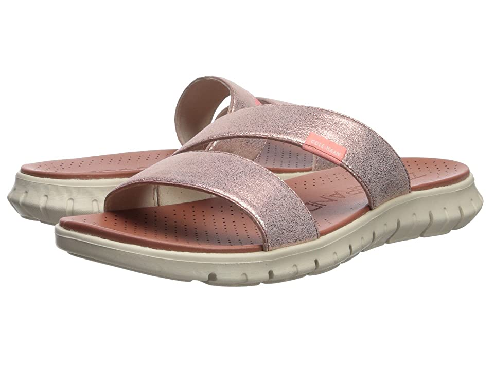 Cole Haan Zerogrand 2 Strap Sandal (Rose Gold Shimmer Metallic/Ivory) Women's Sandals
