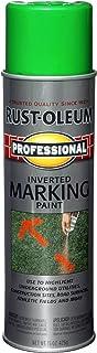 Rust-Oleum 207464 Professional Inverted Marking Spray Paint, 15 oz, Fluorescent Green