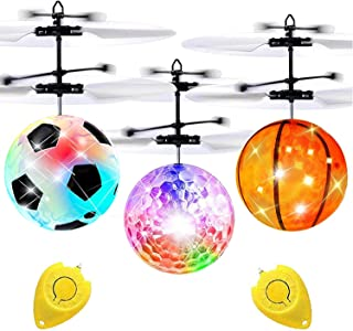 Camlinbo 3 Pack Flying Ball Toys for Kids RC Flying Toys Hand Operated Rechargeable Infrared Induction Helicopter Light Up...