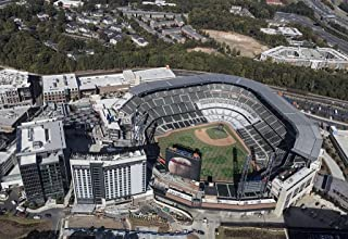 Photo - Aerial photograph of the Atlanta, Georgia, area taken in October 2017, with a focus on SunTrust Park northwest of downtown Atlanta in the Cumberland neighborhood of Cobb County 1 66in x 44in