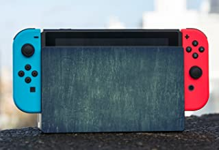 Wood Wooden Dark Blue Green Background Nintendo Switch Dock Vinyl Decal Sticker Skin by Moonlight Printing