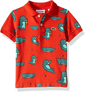 Lacoste Boy Fun Croc All Over Print Pique Polo