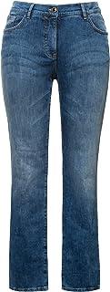 Ulla Popken Jeans Destroyed Effekte, Mandy Vaqueros Straight, Azul (Bleached 92), 58 (Talla del Fabricante: 56) para Mujer