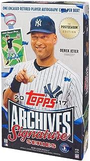 2017 Topps Archives Signature Series Postseason Baseball Hobby Box