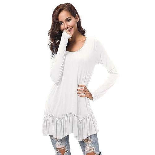 c38725df5c0 Urban CoCo Women s Casual T-Shirt Solid Long Sleeve Tunic Tops