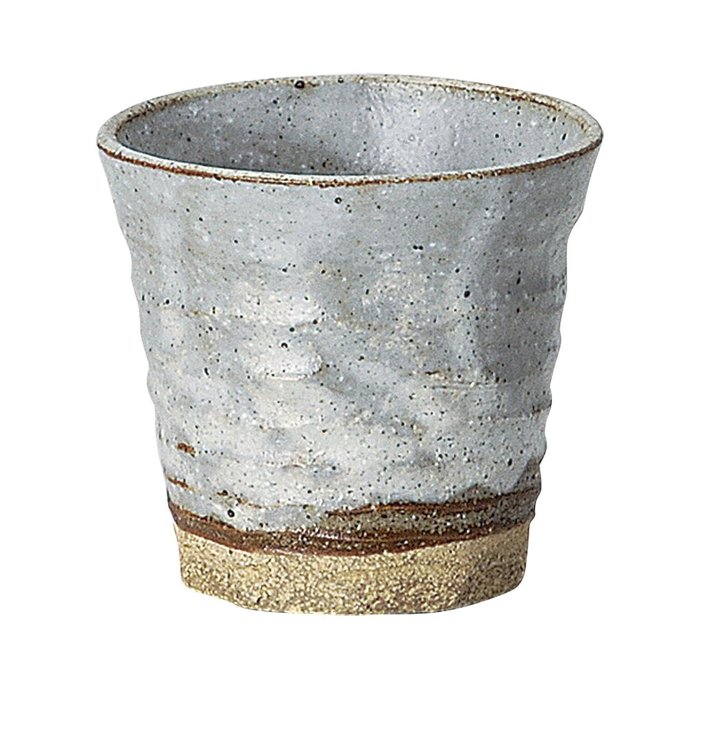 側証明する有害な宗峰窯 陶器 タンブラー 粉引 フリーカップ 白 280cc 354-11-233