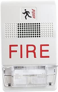 Multi-Candela Horn-Strobe Ceiling White Edwards GCF-HDVM W// Fire Markings