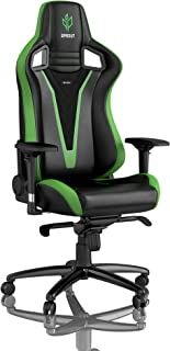 noblechairs Epic Gaming Chair - Office Chair - Desk Chair - PU Faux Leather - 265 lbs - 135° Reclinable - Lumbar Support Cushion - Racing Seat Design - Sprout Edition