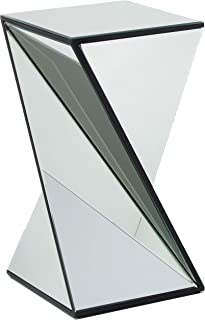 Christopher Knight Home 302289 Amy Geometrical Mirrored Side Table, Clear