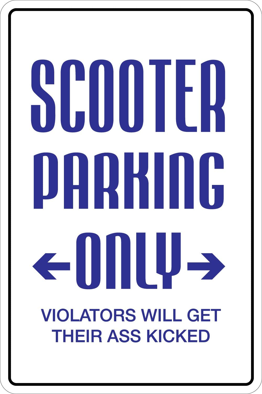 Scooter Parking Parking Only 8