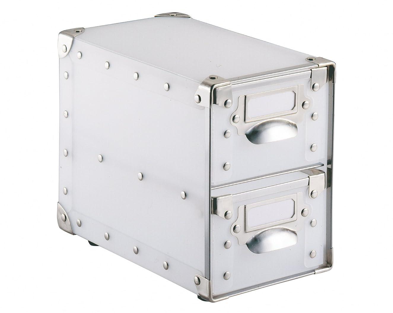 Organize It All Translucent 2 Drawer Small Storage Organizer