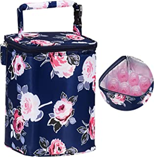 Momcozy Insulated Breastmilk Cooler and Baby Bottle Bag, Fit Up to 6 bottles like Dr. Brown, 4 Large 8 Oz. Bottles like Co...