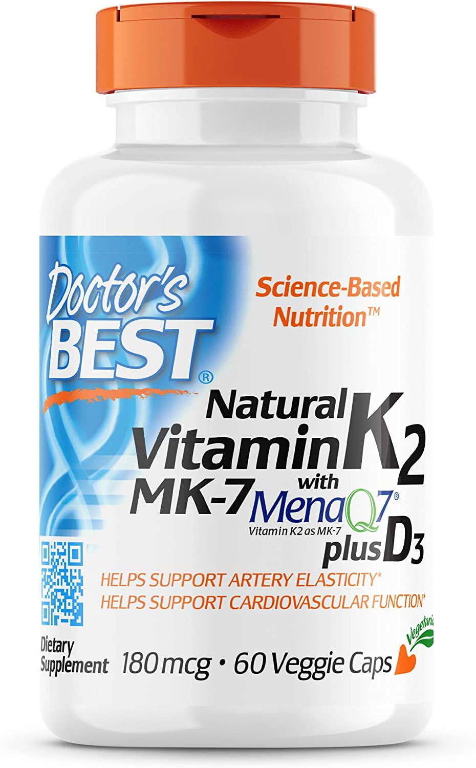 Doctor's Best Natural Large special price Vitamin K2 with 1000I D3 MK-7 180mcg Max 42% OFF Plus