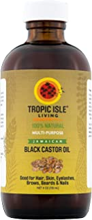 Tropic Isle Living Jamaican Black Castor Oil Glass Bottle (4 oz)