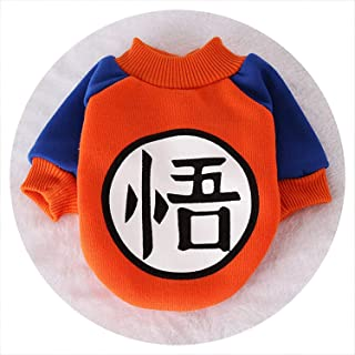 Sex Appealing Small Dog Pet Clothes Dragon Ball Goku Sweater T-Shirts Warm Apparel Costume Dog Clothes,As Photo,L