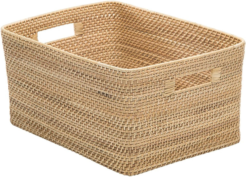 Kouboo 1060118 Laguna Rectangular Rattan Storage Basket, Natural