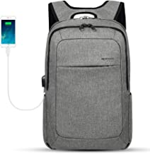 Kopack Business Laptop Backpack with USB Charging Port Anti-Theft Travel bag Computer Backpack Bag Water Resistant 15.6 inch Grey (Grey1)