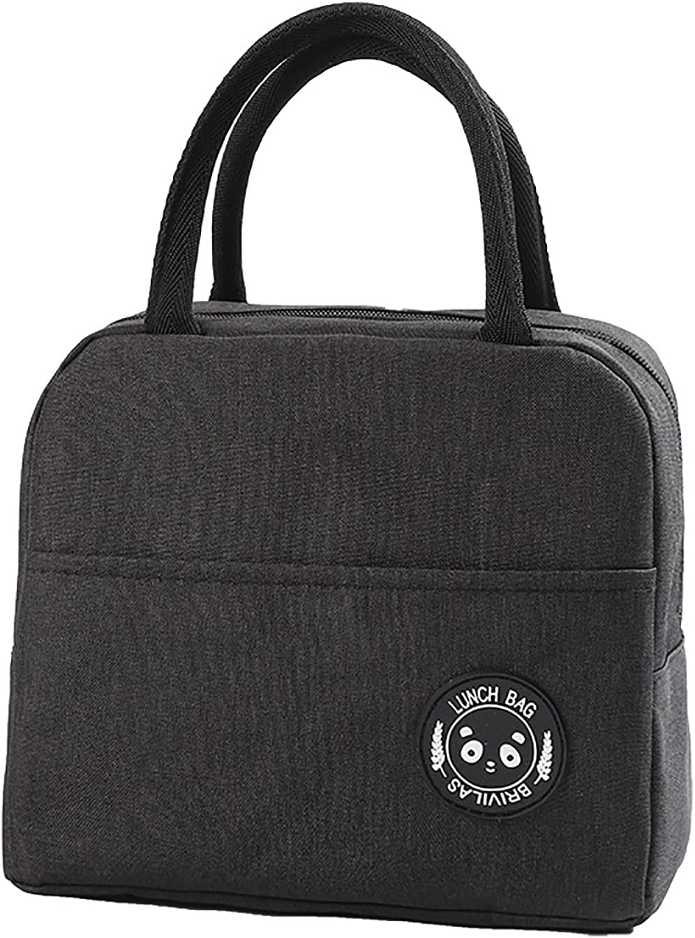 Chase Fans Reusable Lunch Bags for Women & Men,Tote Bag Insulated Lunch Container Oxford Fabric Aluminum Foil Lining,Lunch Box for Office,Work,Picnic,Beach (Black)