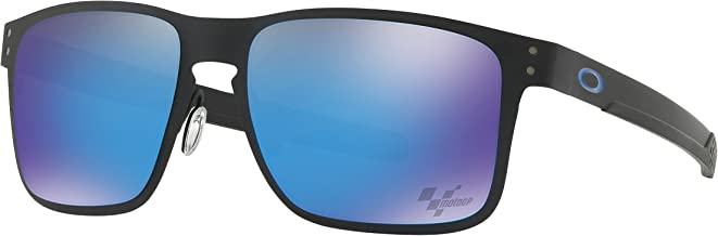 Oakley Holbrook Metal Sunglasses Moto GP Matte Black with Prizm Sapphire Polarized Lens + Sticker