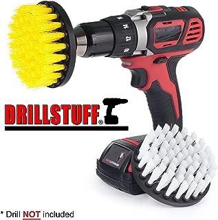 Drillstuff 4In 2 piezas de cambio rápido, suave y Mediana Drillbrush 5 x 5 x 5 pulgadas amarillo blanco