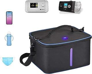 Lycoco Assainisseur de nettoyant, Sac de stérilisateur UV Voyage Portable, Tue 99,9% Masque CPAP UV sans Ozone et nettoyan...