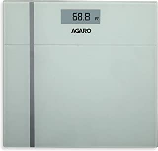 Agaro WS-503W Glass Top Digital Personal Body Weighing Scale