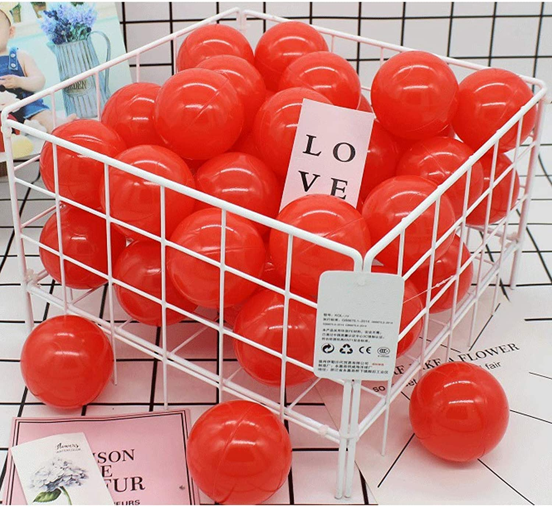 XHINB Baby Ball Baby Spielzeug Indoor Kinder Hause Ball rot 7 cm 100 Ball