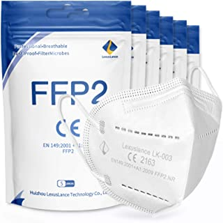 Lexuslance - 30 Mascherine FFP2 Certificate CE Europa Adulti BFE ≥95%. Mascherine FFP2 sigillate in comode bustine tascabi...