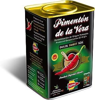 Pimentón de la Vera Ahumado, Dulce en Lata de 750 g, Producto con la Denominación de Origen Protegida D.O.P. Condimento Apto para Celíacos.