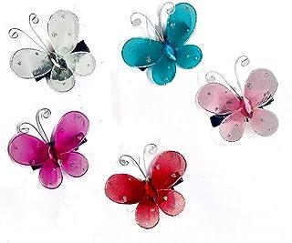 Kidzoo Glittering BUTTERFLY HAIRCLIPS Children Fashion Hairpin Hair-clips Hair Accessories Set for Girls & Women Head Dres...