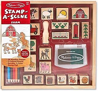 Melissa & Doug Stamp A Scene Farm | Arts & Crafts | Stamp Sets & Stencils | 4+ | Gift for Boy or Girl
