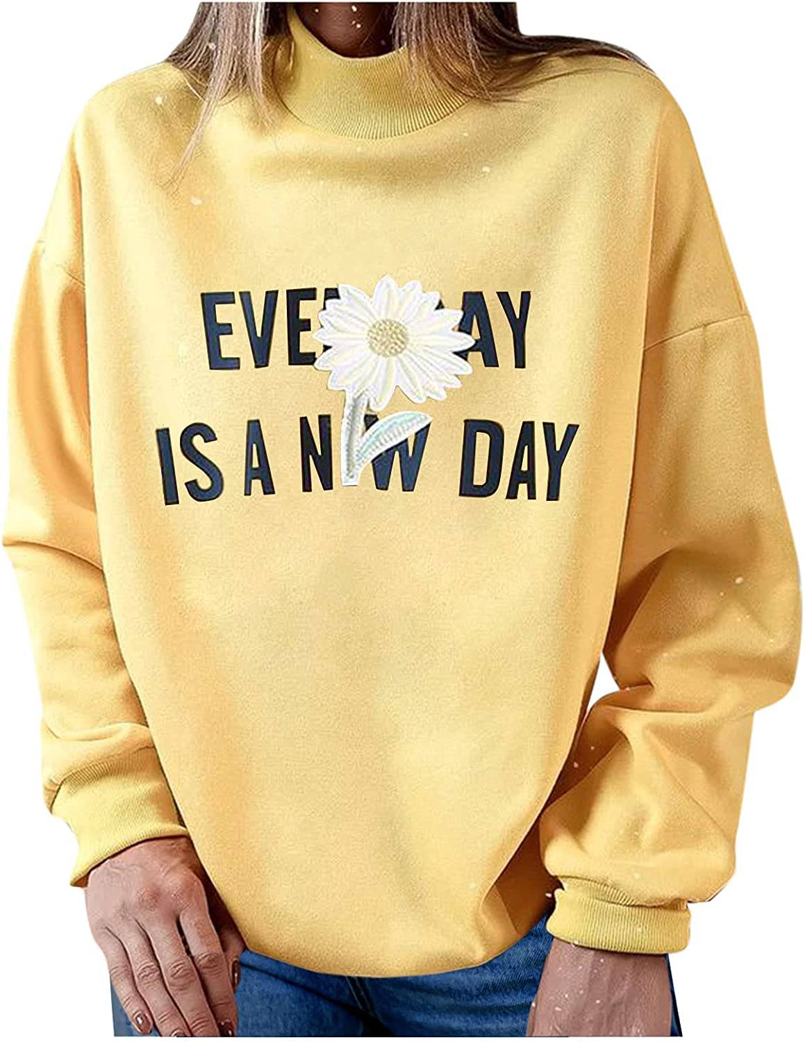 Fall Clothes For Women Clearance,Oversized Sweatshirt for Women,Women's Vintage Graphic Round Neck Long Sleeve Sweatshirt Casual Loose Fitting Pullover Tops