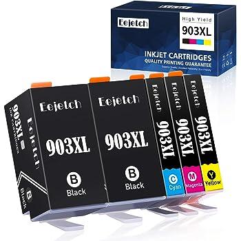 Eejetch 903XL Cartucce Sostituzione per HP 903XL Cartucce d'inchiostro Compatibile con HP 6950, HP 6960, HP 6970, HP6950, HP6960, HP6970 Stampante (2 Nero, 1 Ciano, 1 Magenta, 1 Giallo)