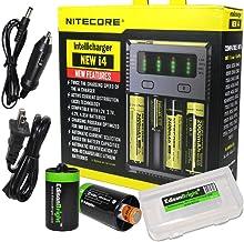 NITECORE New i4 battery Charger For Li-ion / IMR / Ni-MH/ Ni-Cd 18650 18350 16340 RCR123..