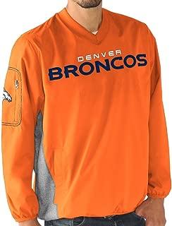 G-III Sports Denver Broncos NFL Men's by Carl Banks Gridiron V-Neck Pullover Jacket