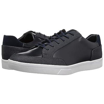 Calvin Klein Izar (Dark Navy Scotch Grain/Box Leather) Men