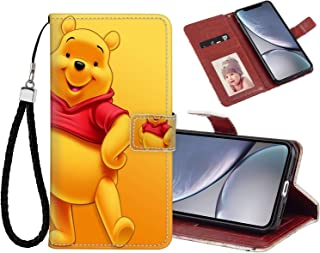 DISNEY COLLECTION Leather Wallet Case Compatible for iPhone Xr [6.1-Inch] Hd Pooh Bear Wallpaper Shock Absorbent