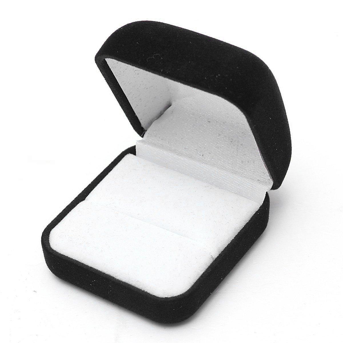 Cikuso 1 pz Estuche Caja de Joya Negro Regalo Anillos aretes exposicion de Terciopelo de Joya: Amazon.es: Hogar