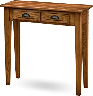 Leick Bin Pull Two Drawer Hall Console Table, Candle Glow